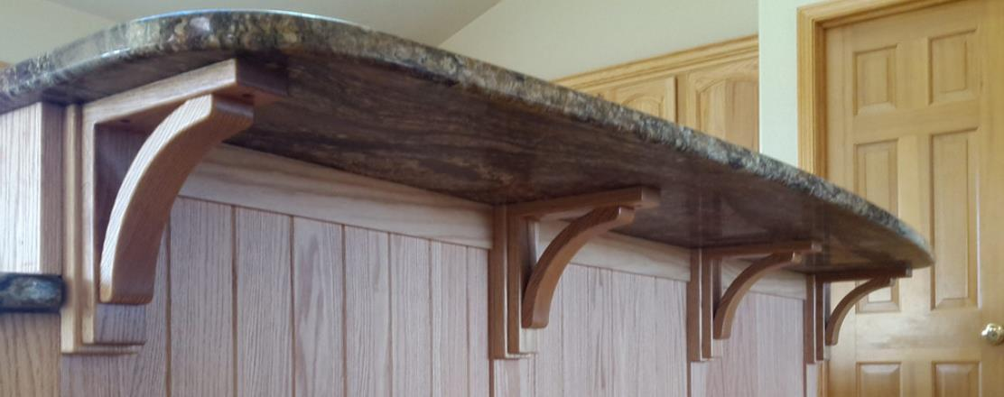 Countertop overhangs for Granite overhang without support